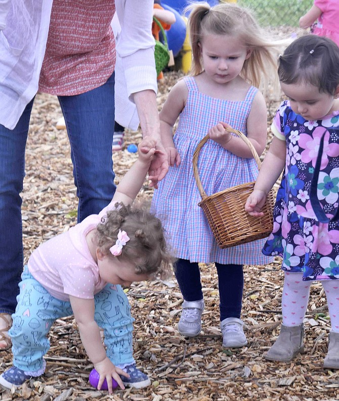 The Easter Egg Hunt at Little Falls Presbyterian Church attracted a crowd of egg-seekers on Saturday, April 20.