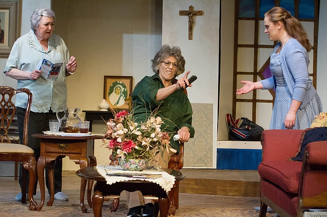 """Patricia Smith, Mary Jo Morgan and Ashley Amidon star in LTA's production of """"The Savannah Disputation."""""""