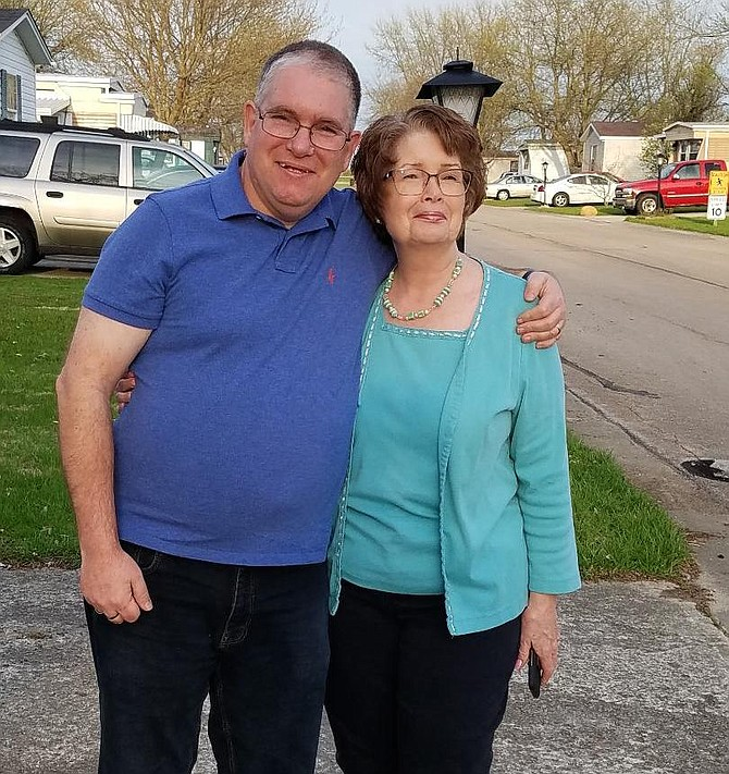 Patrick Sullivan of North Springfield, with his birth mother Eileen of Ohio.