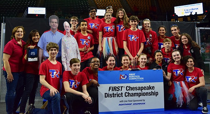 T.C. Williams FIRST Robotics Team, Titan Robotics, wins District Engineering Inspiration Award.