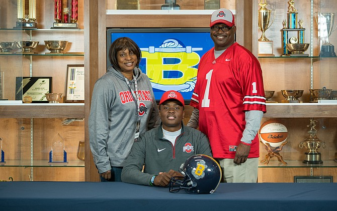 "Dwayne Haskins with his parents, Dwayne Haskins Sr. and Tamara Haskins. ""I wouldn't be able to call myself an NFL player without the support of my family, especially my Mama,"" said Haskins in a tweet the day after the Redskins drafted him."