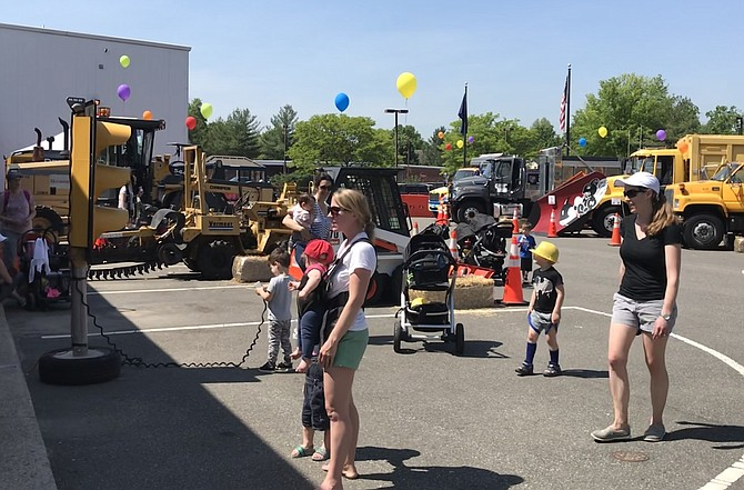 It's big rigs, balloons and preschoolers at the Town of Herndon Department of Public Works Big Truck Days 2019.