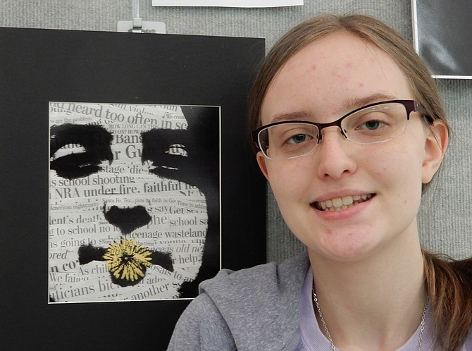 Megan Sweeney, Chantilly junior, won gold in National Scholastic competition.