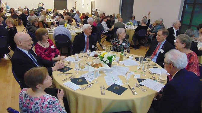 Some 98 people attended the McLean chapter of the AAUW's 50th Anniversary.