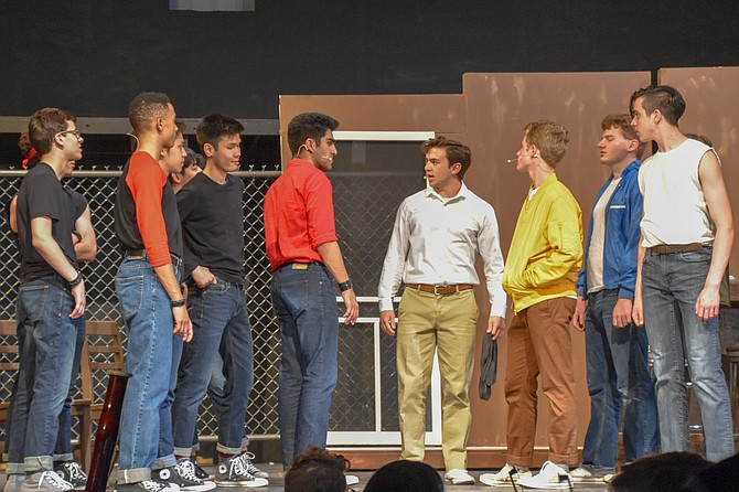 From left: Adam Sieff, Chris Royal, Dylan Quan, Eldiiar Aldaiaror, Ryaan Farhadi and Zach Spaford in James Madison High School production of 'West Side Story.'