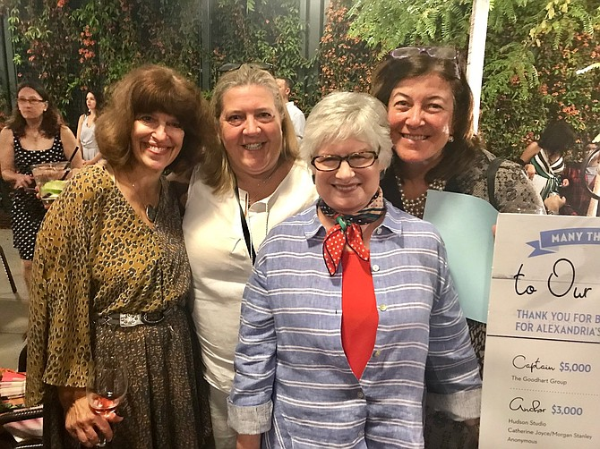 Suzanne Kratzok, former coordinator of Community Services for the Department of Community and Human Services, in front, with Maryanne Beatty, Beth Hamid and Daniella Spighai at the Fostering the Future Gala May 3 at Hummingbird Bar and Kitchen at the Hotel Indigo. The event raised more than $64,000 to aid children in foster care and at risk of abuse and neglect.