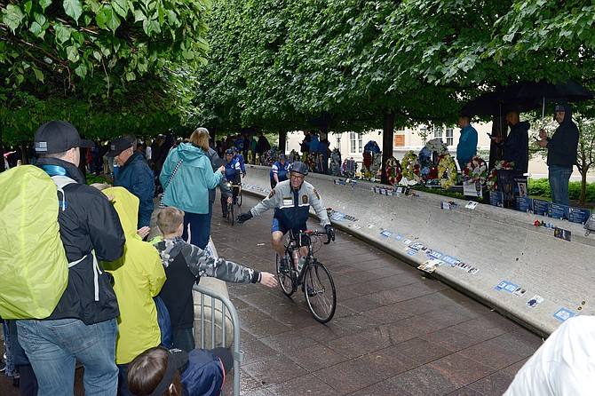 Lt. Tim Field, Fairfax County Police, McLean District Station, in the 2019 Police Unity Tour at the National Law Enforcement Officers Memorial in Washington D.C.