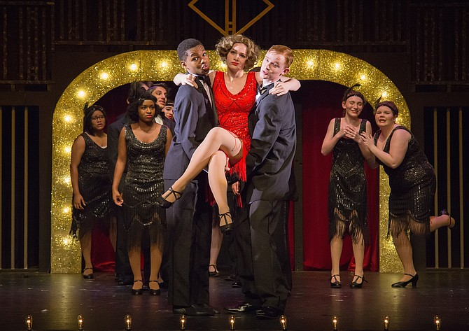 From left: Jordyn Packer, Jacquelyn Bryant, Zach Patel, Jair Anderson, Emily Mann, Ryan Bonanno, Nicole Engelbrecht and Emma Skog in South County High School's production of 'Chicago.'