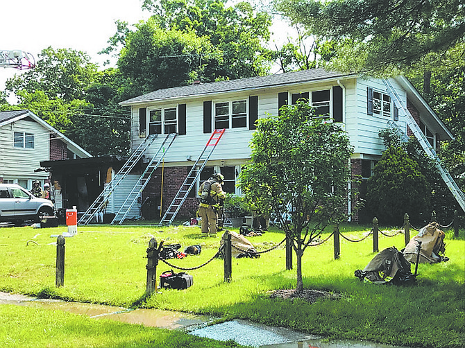 Fire Investigators determined that the fire was accidental in nature and started in a bedroom adjacent to the garage.