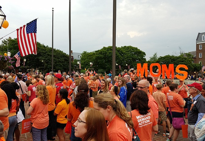 Alexandria's Moms Demand Action for Gun Sense chapter will hold its third annual Wear Orange rally at Market Square on June 7 at 7 p.m., in an effort to support a future free from gun violence.