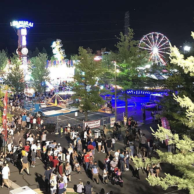 Saturday night at the 2019 Herndon Festival.