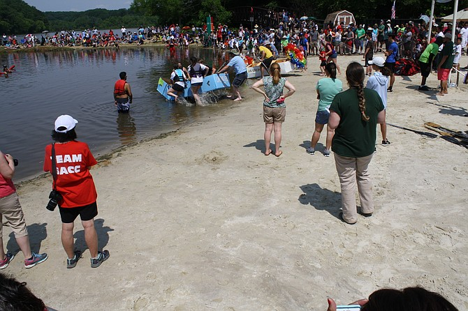 Springfield's Cardboard Boat Regatta goes down smoothly.