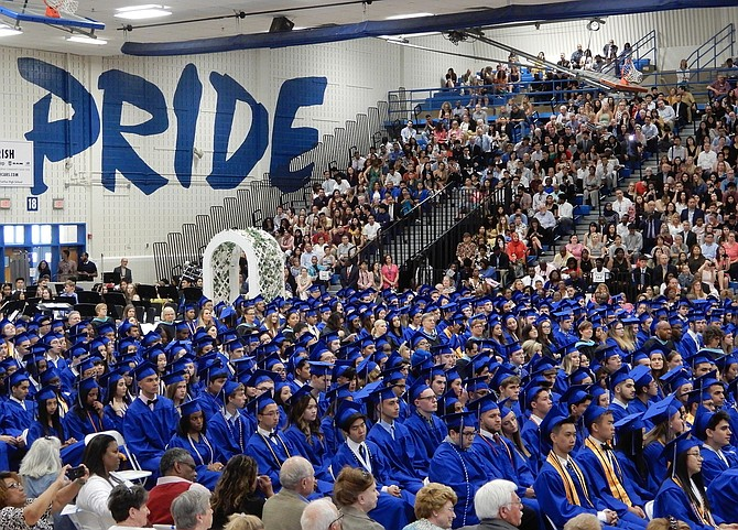 Members of Fairfax's Class of 2019 wait to be pronounced graduates.