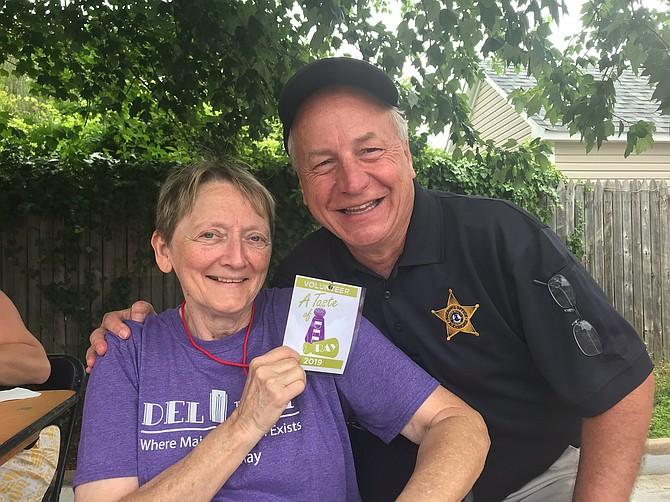 Taste of Del Ray organizer Pat Miller with Sheriff Dana Lawhorne.