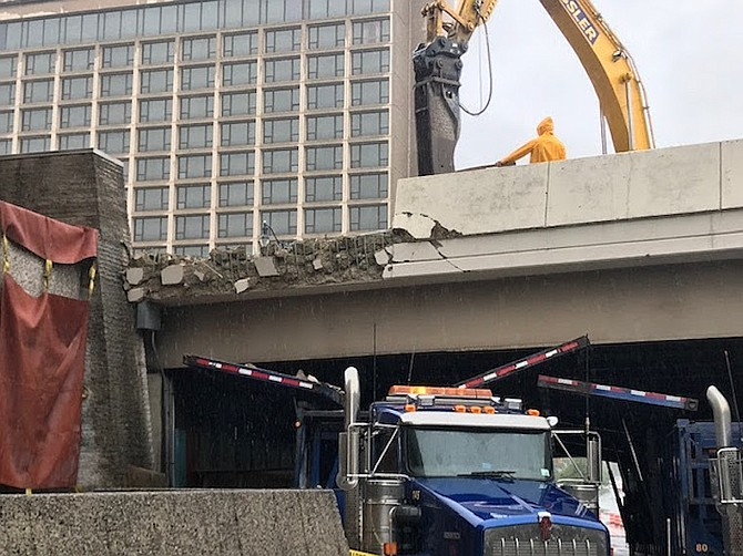 Clark Street bridge demolition.