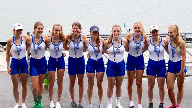 T.C. Williams crew women's lightweight eight.