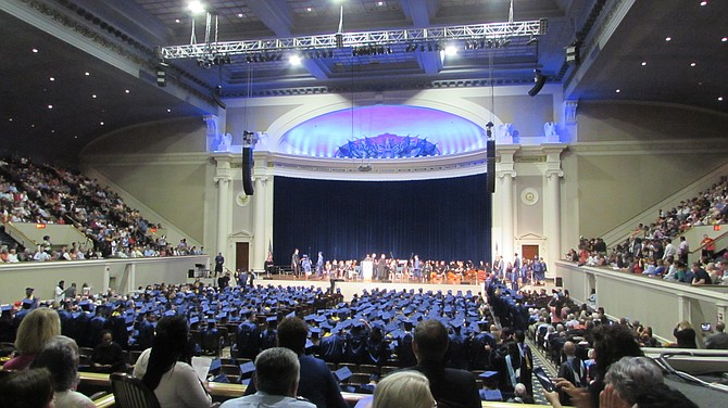 The ceremony was held in Constitution Hall.