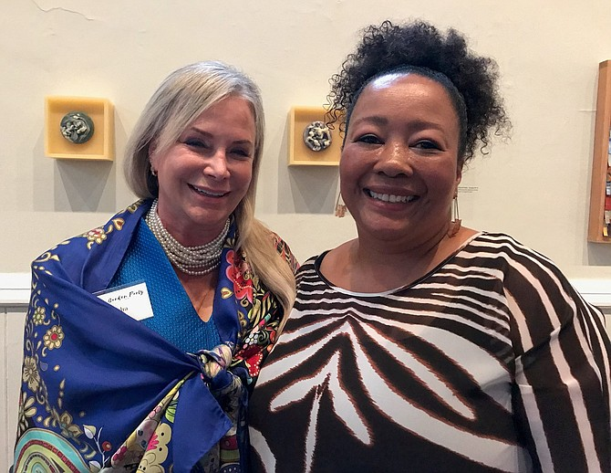 Kendra Carey and White House florist Kelly Green at the ASO Garden Party June 18 at the Athenaeum.