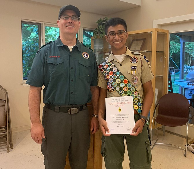 Crew 1022 Advisor David Florenzo and Eagle Scout Noah Ventura.