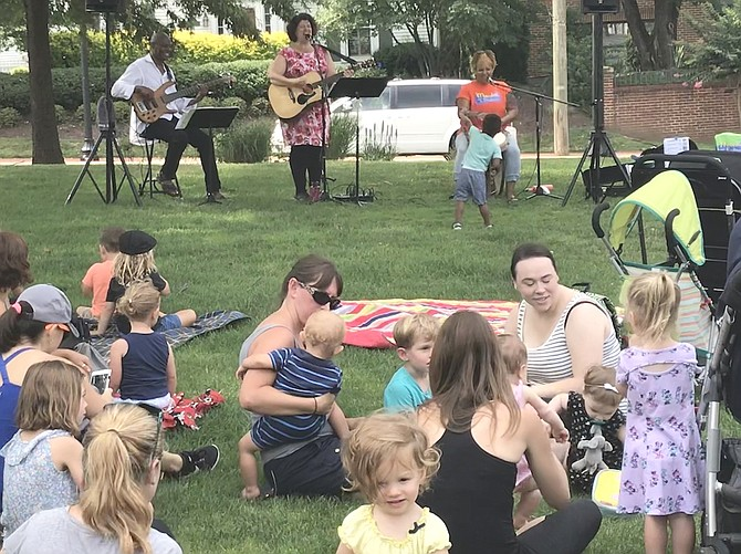 Town of Herndon's Farmers Market Fun Days were back in the swing on Thursday, July 11 with Marcia and the Positrons.