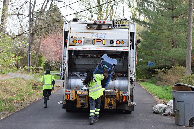 The Fairfax County trash service is seeing a shortage of employees and contractors are as well.
