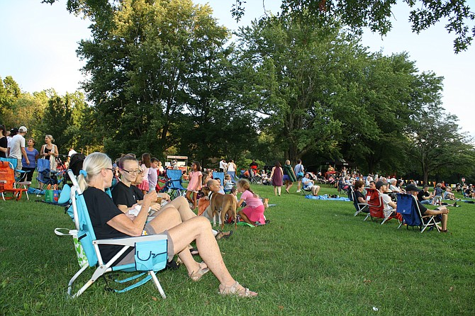 On the lawn at Burke Lake, the concert series is a relaxing way to wrap up a summer day.