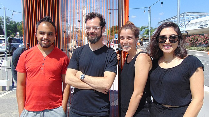 The artist team Epigram (from left): Emanuel Pires, Hector Montalvo, Julieta Guillermet, and Natalia Brizuela.  Not pictured:  Edwin Coimbre and Jorge Fuertes.