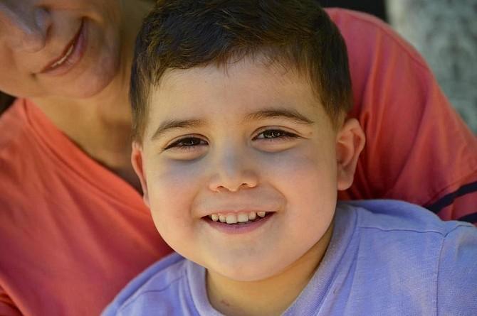 "Local ""Superhero"" Luca, age 4."