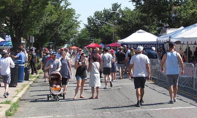 Festival-goers on Mount Vernon Avenue.