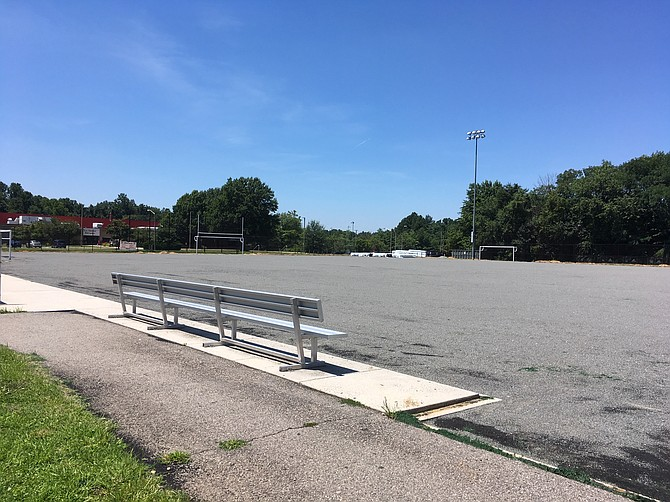 A new coat of synthetic turf for a field at Lee District Park.