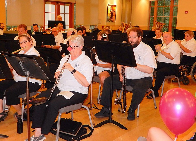 The City of Fairfax Band played music geared for children.