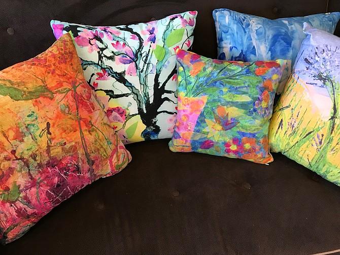 Painting pillows by Julia Tova Malakoff.