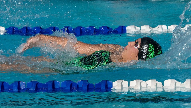 Montse Garduno Estrada placed first in the backstroke.