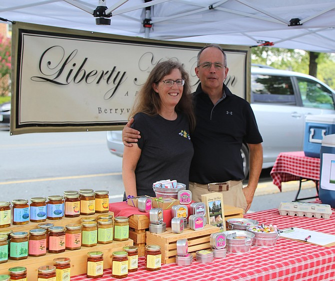 Ken and Andrea Matich, owners of the Liberty Hill Farm, believe that we are what we eat. They produce and sell chickens, turkey, sheeps, steers, hogs and sows at their family farm.