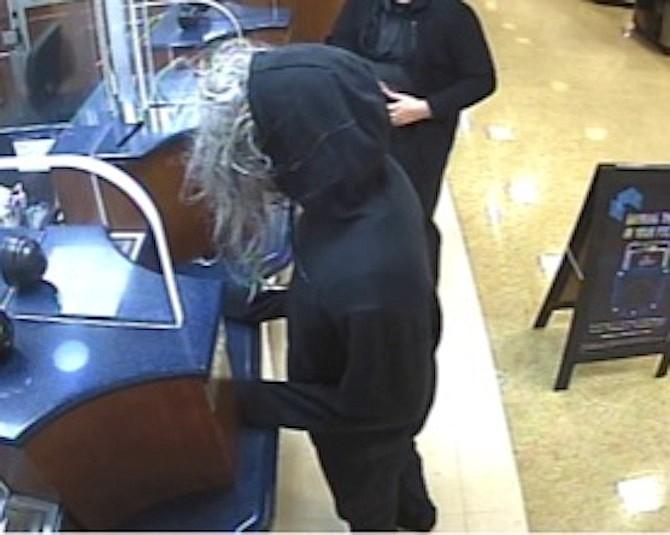 Suspected serial bank robber at SunTrust Bank inside Safeway; Herndon.