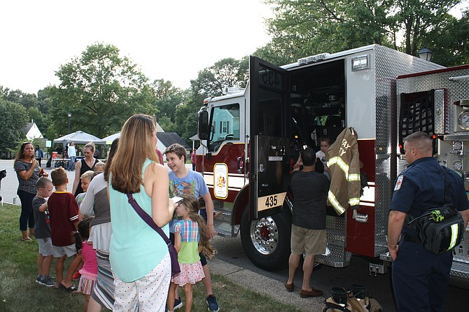 The firetruck was a hit on National Night Out.