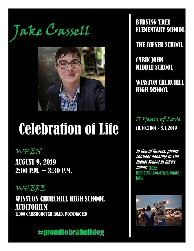 Jake Cassell, Celebration of Life.
