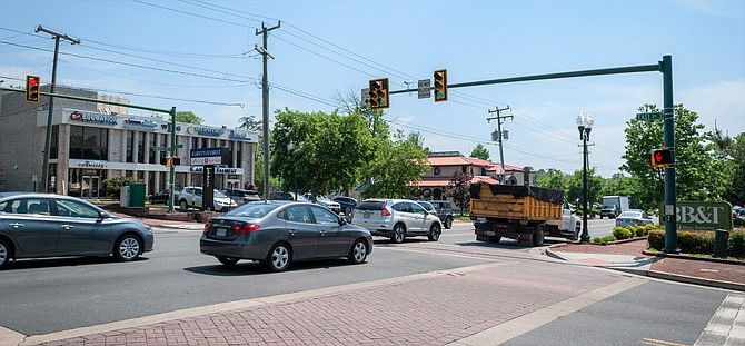 Maple Avenue sees its share of congestion.