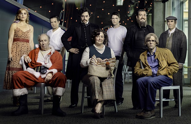 """The cast of Signature Theatre's """"Assassins,"""" which runs now through Sept. 29."""