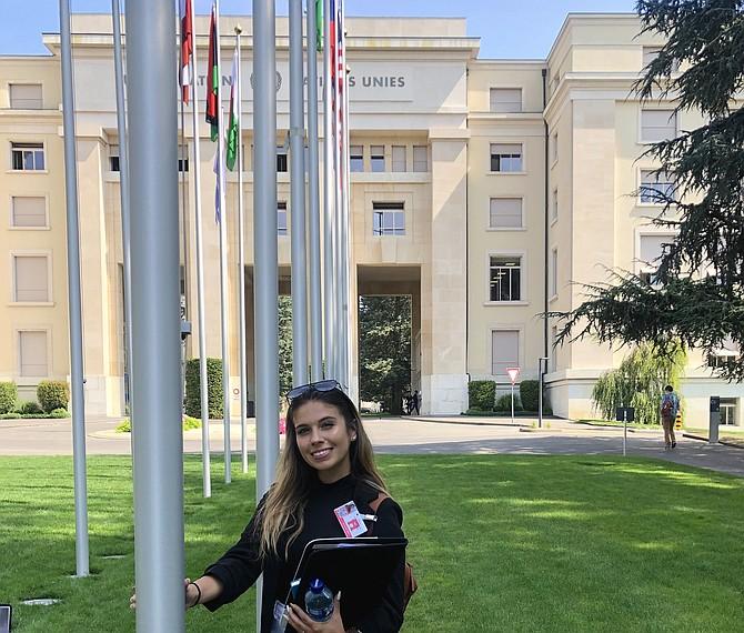 Nicol Martins of Fairfax in a visit to the UN office in Geneva, Switzerland in July 2019.