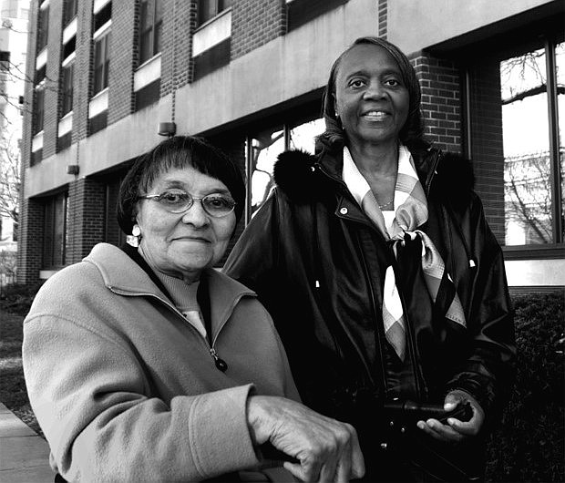 Gwendolyn Menefee-Smith, at right, was selected as a Living Legend of Alexandria in 2012 along with Dorothy Turner for their advocacy for public housing tenants' rights.
