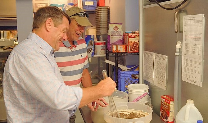 Supervisor Pat Herrity kicked off his 2019 Small Business Tour with a stop at Peterson's Ice Cream Depot.