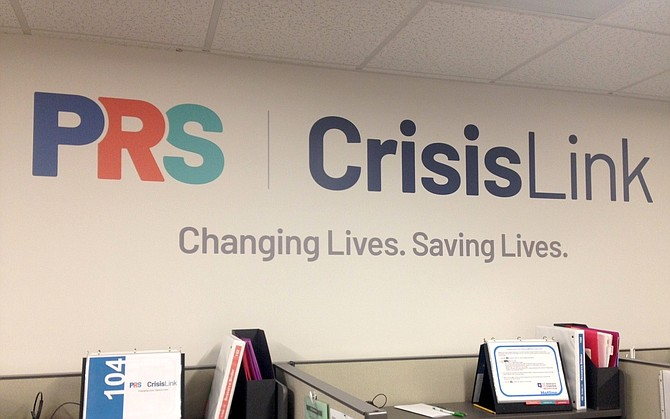 Wall graphics at PRS CrisisLink headquarters.