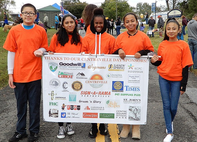 Stone Middle students recognize the event sponsors during Centreville Day 2018. This year's event will be held on Oct. 19.