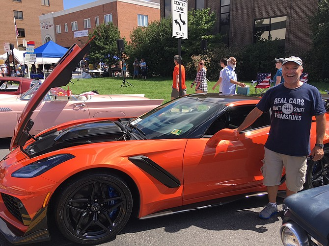 Bob Williams proudly displays his ZR1 Corvette at last year's car show.