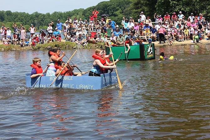 Springfield Days' Cardboard Boat Regatta at Lake Accotink Park.
