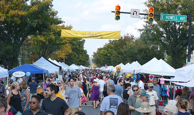Del Ray's Art on the Avenue, sponsored by the Del Ray Business Association, is just one of many citywide events sponsored by Alexandria's local businesses.