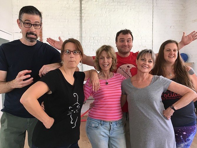 The Mirth and Mayhem class consisted of Watt Hamlett and Julie Price from Reston, Joyce Bradford, Laura Marcell, Rachel Kimbo from Nashville, Tenn. and in back, Mike Funt.