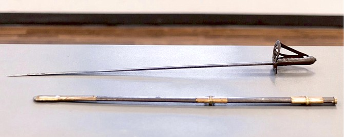 Saber of the civil war soldier that died under John and Mary Marshall's house.