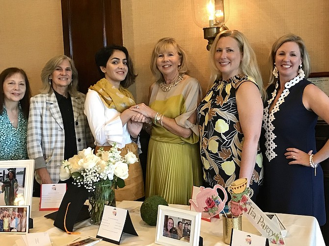 From left, Candace Bovee, Lissa Carter, Ellaha Momand, Mary Lou Christy, Kathryn Rutkowski and Christie Lavin at the Great Falls Friends & Neighbors Scholarship Fund's 2019 celebratory luncheon. The group awarded a scholarship to Momand.